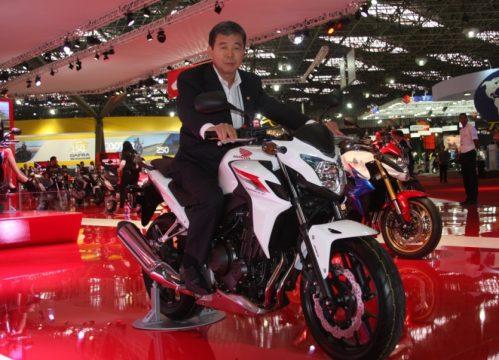 O brasileiro Issao Mizogochi é o CEO da Honda para América Latina. Com mais de 75% do mercado brasileiro de motocicletas, a Honda é a grande anfitriã do Salão Duas Rodas. Foto: Amauri Yamazaki