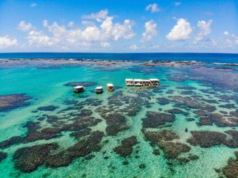 Para chegar as piscinas naturais é necessário contratar os serviços de um catamarã ao custo de R$ 50,00 por pessoa. Foto: Rafael Munhoz e W. Benedetti