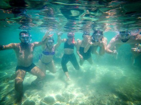 O mergulho com snorkel