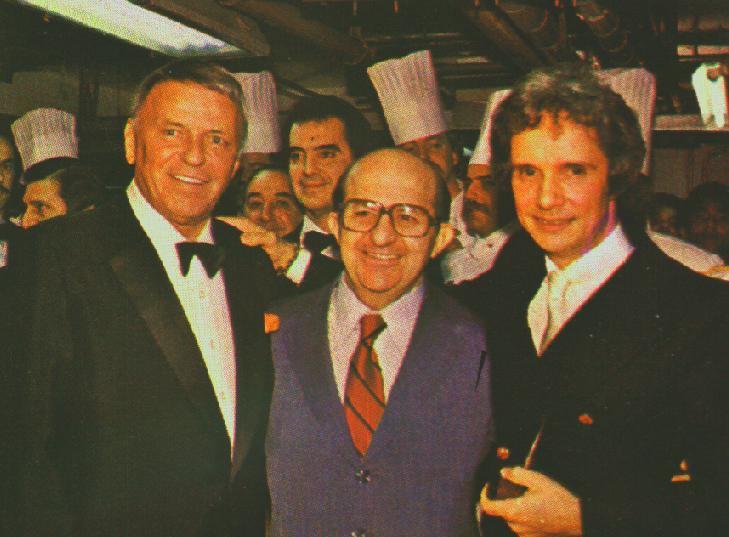 Frank Sinatra, Henry Maksoud e Roberto Carlos. Foto: Divulgação